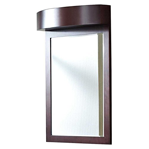 32-in. W x 36-in. H Transitional Birch Wood-Veneer Wood Mirror In Walnut