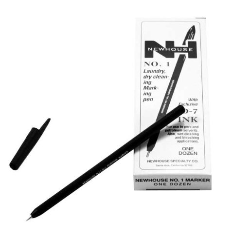 Ball Point Laundry Marking Pen, 12-Pack ()