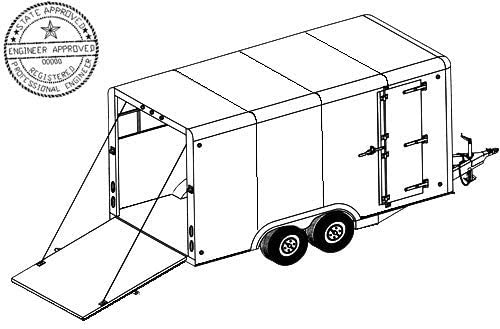 16CC Trailer Plan 16x8 Tandem Axle 7K or 10.4K Covered Cargo Trailer DIY How-to Blueprint