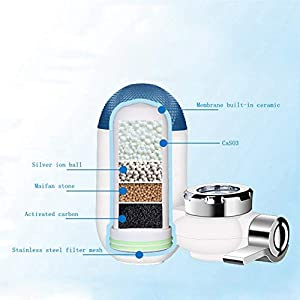 Pangjxud Water Filter Faucet Small Size, Easy Installation, Kitchen Faucet Water Purifier