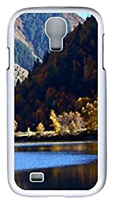 samsung galaxy s4 case,custom samsung galaxy s4 i9500 case,TPU Material,Drop Protection,Shock Absorbent,Customize your own cell phone case pattern,white case,Landscape 1 (black)