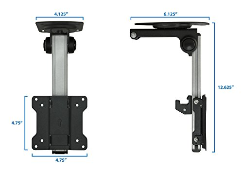 Mount-It! LCD Tilt Swivel Under Cabinet Mount for 13 to 27-inches ...