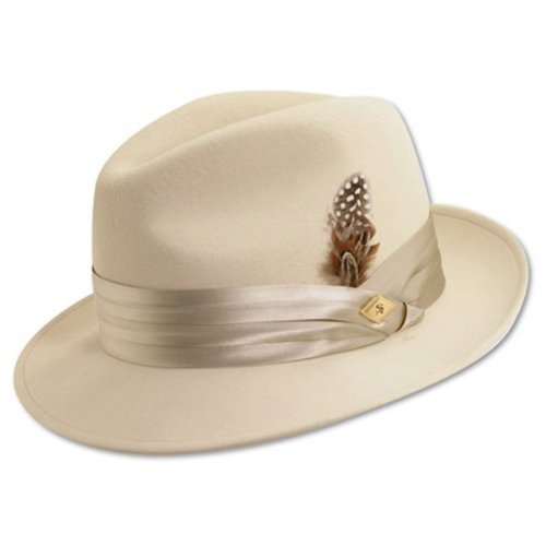 STACY ADAMS Men's 1 / Sa Crush Wool Felt Fedora Hat,Brown,M (Felt Hat Gangster)