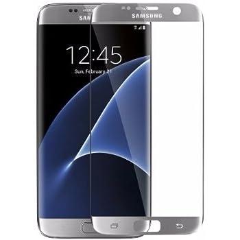 33194d24d6e Futureents Mica de Cristal Templado Curvo para Samsung Galaxy S7 Edge Plata