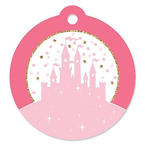 Little Princess Crown - Pink and Gold Princess Baby Shower or Birthday Party Favor Gift Tags (Set of (Princess Gift Tags)