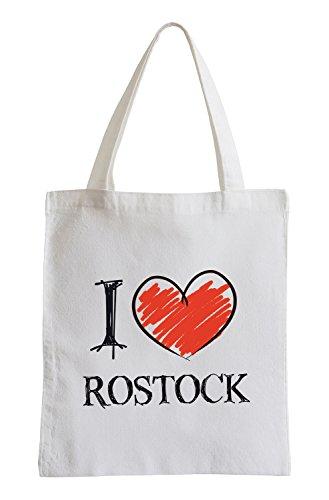 Amo Rostock Fun sacchetto di iuta