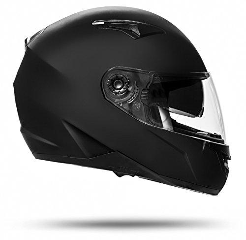 ATO Helme 700 Toronto Schwarz matt L 59cm bis 60cm Integralhelm mit Doppelvisier System und der neusten Sicherheitsnorm…