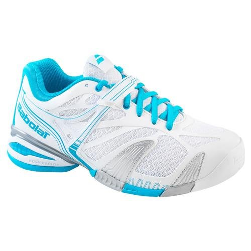BABOLAT Propulse 4 Zapatilla de Tenis Señora Blanco/Azul