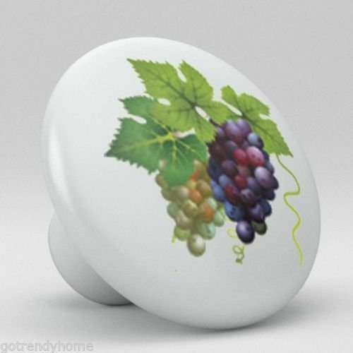 Grape Pulls Drawer - Big-Deal - Grape Red Wine Ceramic Knobs Pull Kitchen Bathroom Closet Drawer Cabinet 186