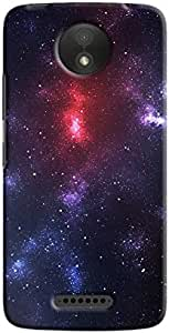 Cover It Up - Red Star Purple Space Motorola Moto C Hard Case