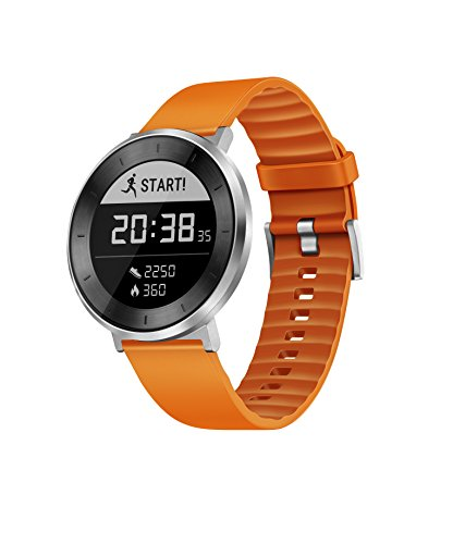 Huawei Fit Sport Watch (Moonlight Silver, Orange Band, Sm...