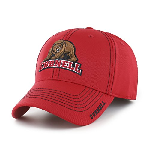 OTS NCAA Cornell Big Adult Start Line Center Stretch Fit Hat, Large/X-Large, Red Cornell Vintage Apparel