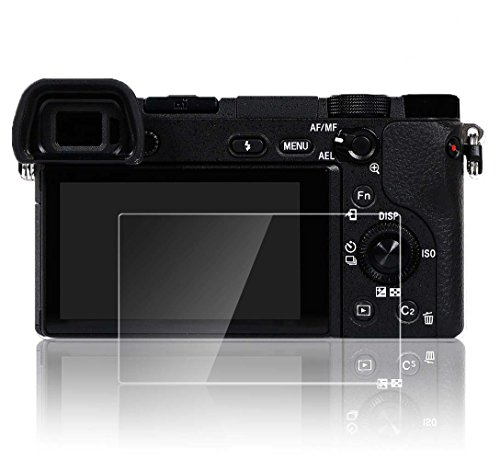 PCTC Tempered Glass Screen Protector Skin Film for Sony DSLR Alpha Nex-7 NEX-6 NEX-5 A6000 A6300 A5000 High Transparency Crystal-clear Anti-scratches Anti-Dust Anti-Fingerprint Waterproof (Olympus Silicone Skin)