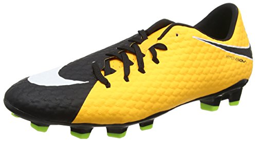 Iii Fg Soccer Cleats - Nike Men's Hypervenom Phelon III FG Soccer Cleat Laser Orange/White/Black/Volt Size 8.5 M US
