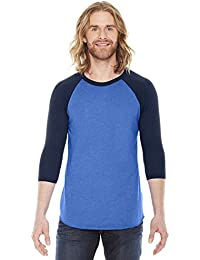 American Apparel BB453 - Unisex Poly-Cotton 3/4-Sleeve...