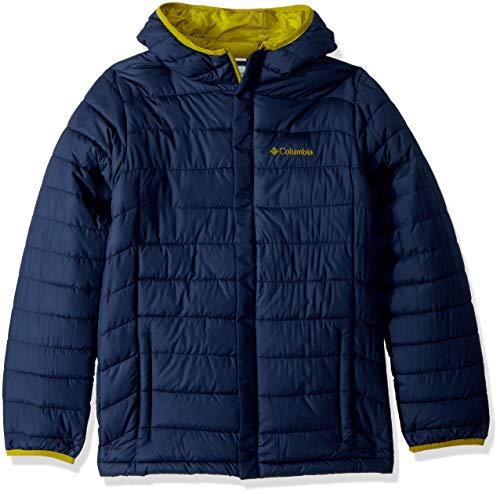 - Columbia Boys' Toddler Powder Lite Puffer, Collegiate Navy/Python Green, 2T