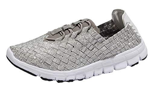 Woven Playa Sandalias Zapatillas Zapatos Studio Respirables Plata Cómodos De Verano Sk Deportivas Flats Mujer CYwn7ItIxq