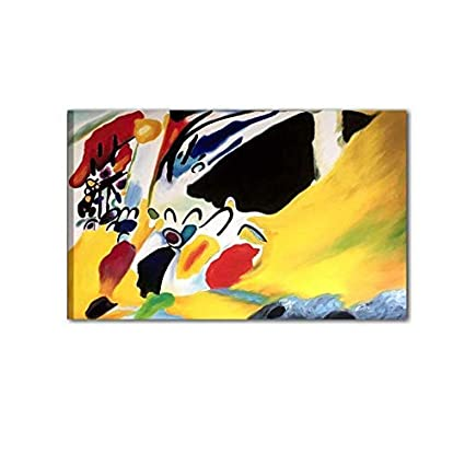 f2dd1a389296 I Colori del Caribe Omaggio A Kandinsky Quadro Astratto Dipinto A Mano su  Tela Quadri Astratti