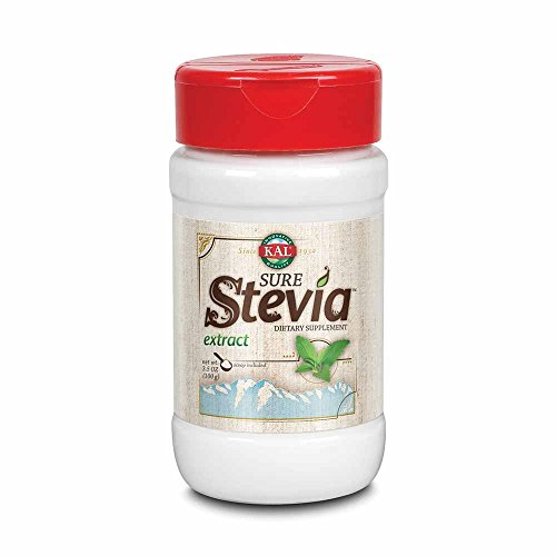 KAL Sure Stevia Extract Powder, 3.5 OZ. | Best-Tasting, Zero Calorie, Low Glycemic | 1820 Servings