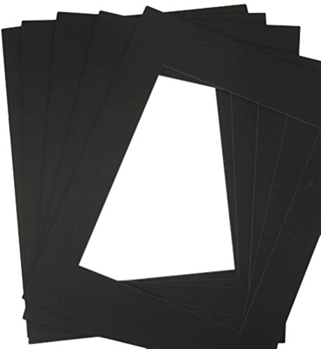 BLACKCORE MAT, 25 of black 18x24 Pre-cut Acid-free for 12x18 +back+bag