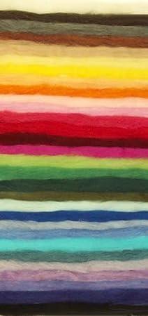 Ecosoft Felting Wool Fiber roving 1 Full Ounce Black