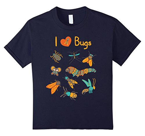 Kids Bug Collecting Shirt, Insect Collectors Birthday Gift 6 Navy