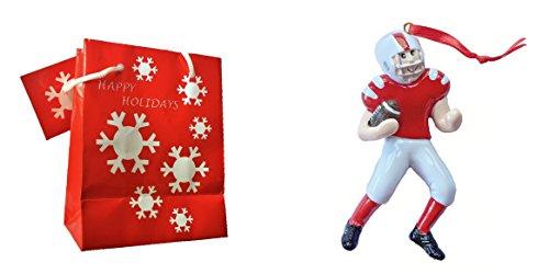 Football Player Christmas Ornaments - 4