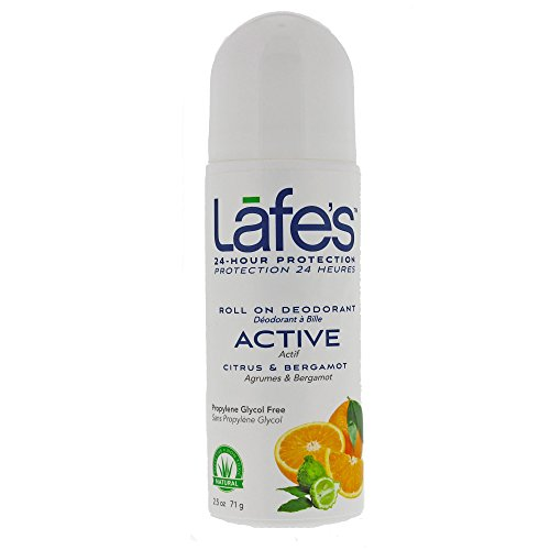 [Lafe's Roll-On Deodorant, Citrus & Bergamot, 2.5 Ounce] (Lafes Hemp)