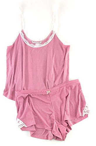 Victoria's Secret Sleepwear Ribbed Cami Tank & Shorts Pajamas Set (Blush, Large) from Victoria's Secret
