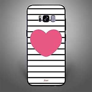 Samsung Galaxy S8 Pink Heart stripes