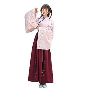 YCWY Vestido Bordado para Mujer, Chino Vintage Hanfu para Mujer ...
