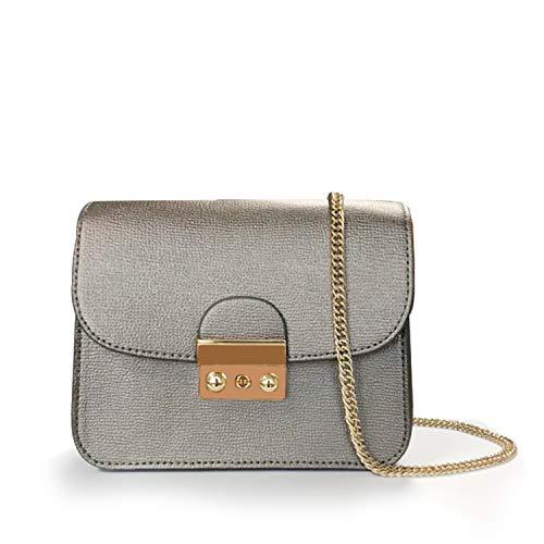 Leather Chain Shoulder Bag Fashion Mini Evening Bag Wedding Party Handbag Classic Clutch for Women Girls -