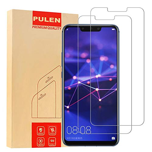 [2-Packs] PULEN Screen Protector for HuaweiMate20Lite,HD Anti-Fingerprints Scratch Resistance Bubble Free 9H Hardness Tempered Glass for HuaweiMate20Lite 2018