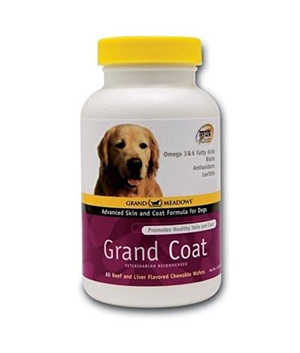 Grand Coat Dog Skin Coat Vitamin E Omega 3 Fatty Acids Beef Liver Tablets Treats by Grand Meadows