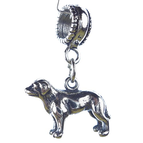 Sterling Silver Labrador Retriever - Labrador Retriever Sterling Silver Dangle Dog Charms
