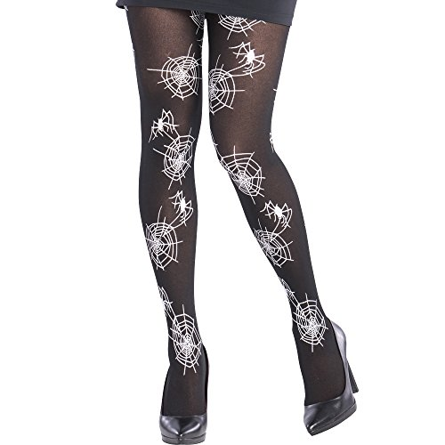 Carnival Toys 3814 Stockings with Spiderweb Black One Size
