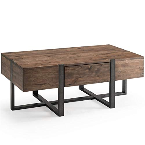 "Magnussen Prescott Modern 48"" x 24"" Coffee Table in Rustic Honey"