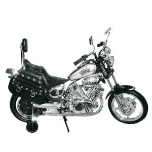 NEW 2013 MODEL Kids LE Premium Electric Power Ride on Motorcycle Harley Style Chrome Wheels