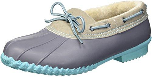 Leather Footwear Sky (JBU by Jambu Women's Gwen Weather Ready Rain Shoe, Sky Blue, 6 Medium US)