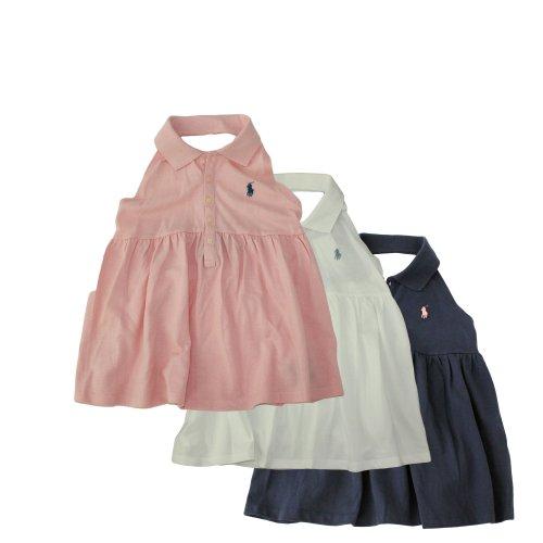 Ralph Lauren Girl's Smocked-Back Polo Halter Top