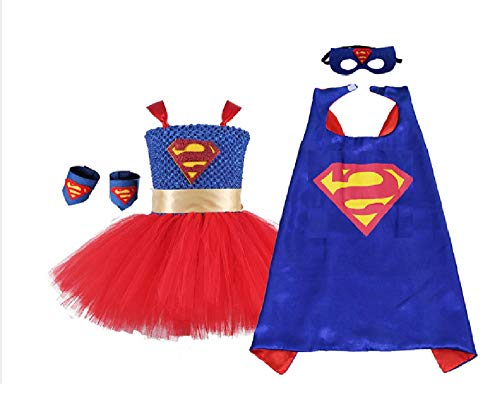 5 Piece Super Human Tutu Costume Set from Chunks of Charm (4T) ()