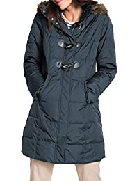 Womens Faux Fur Collar Zip Up Quilted Jacket Coat Outerwear S-XXL f21a0e36f