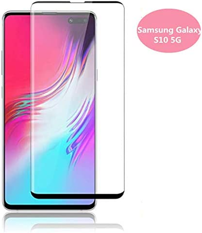 3D Glass for Samsung Galaxy S10 5G Screen Protector Tempered Glass, [2pack] for Galaxy S10 5g Curved Cover Protective Film (Support Fingerprint Unlocking)