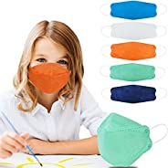Kids KF94 Masks for Children, Individual Wrapped Colored Mask Kid Sized, Small Soft Mask for Boys Girls, Comfo