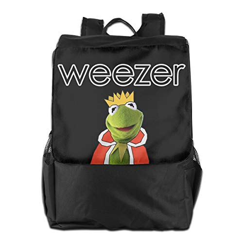 Weezer Band Rock School Backpack Casual Daypack Laptop Bag for Travel/Business/College/Women/Men Black