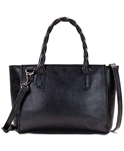 Patricia Nash Heritage Mozia Leather Tote (Black)