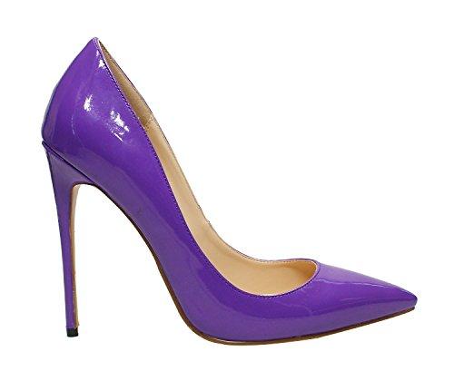 Profonda con DYF Colori Solidi Grandi Tacco Dimensioni Alto Purple di Forte Calzature Ammenda Bocca Donna Poco 6wfqA
