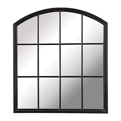 My Swanky Home Luxe Divided Light Window Arch Shaped Wall Mirror | 40