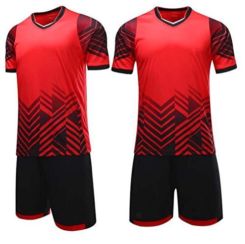 MaxxCloud Soccer Goalkeeper Football Short Sleeves Jersey & Shorts for Mens Kids Watermelon Red (Short Sleeve Goalie Jersey)