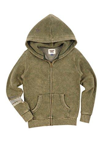 981f4a05f Galleon - BUTTER SUPER SOFT Boy's Long Sleeve Zipper Warrior Mineral Wash  Fleece Hoodie Sweatshirt Duffel Bag Small